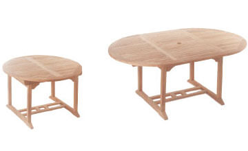 Round to Oval Extending Table